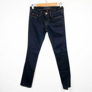 J Brand Black Skinny Jeans Dark Wash Mid Rise